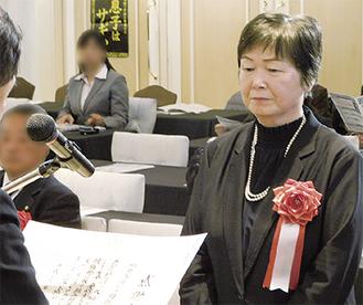 湘南大庭地区防犯協会の柳澤会長