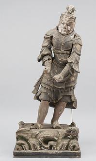 12体の神将立像の中の1つ「戌」の伐折羅大将(撮影者:井上久美子氏)