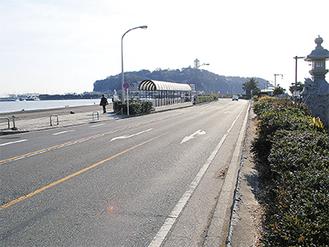 自動運転バスが走行を予定する江の島大橋