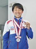 水泳日本選手権で銀