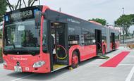 連節バス、運行始まる