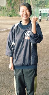 田賀糸彩(3年)/マネジャーで副主将を務める。プレーはできないが、陰からチームを支える