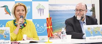 マケドニア駐日大使(左)とメキシコ観光局長