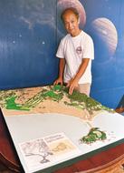 江の島と鵠沼、ジオラマで
