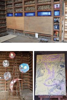『ハッピープレイスに戻る』(上段)『ハナタバ』、『蚊柱』(下段左から)