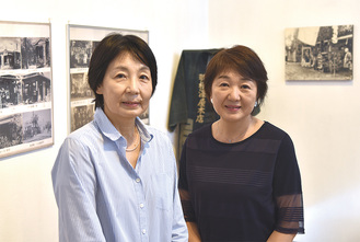 ギャラリーを続けてきた池田さん(左)と小山田さん