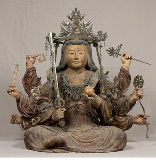 国重要文化財に指定された木造弁才天坐像