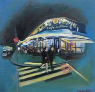 パリの日常を油彩で表現