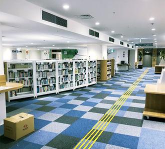 移転の準備が進む南市民図書館(ODAKYU湘南GATE内)