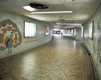 藤沢駅北口を東西につなぐ地下通路