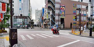 設置が予定されている藤沢駅北口の交差点