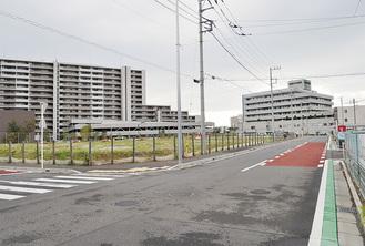 「(仮称)オーケー藤沢羽鳥店」の出店予定地(写真中央緑地部分)