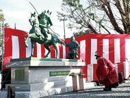 義経の銅像を建立