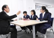 中学生が記者体験