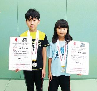 (左から)福島圭祐さんと柚羽さん