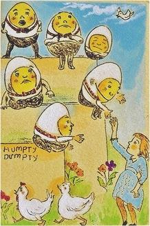 「ハンプティダンプティ」手彩色銅版画