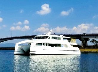 イベントで使用予定のクルーズ船(藤沢市提供)
