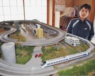 自宅で鉄道ジオラマ