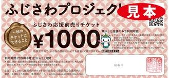 1枚1,000円の額面の前売りチケット
