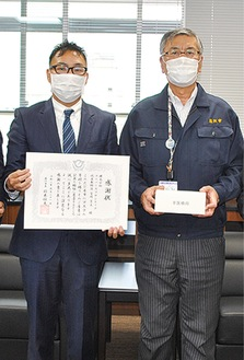 宮崎代表取締役(左)
