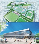リニューアルオープンした県立スポーツセンターのパース