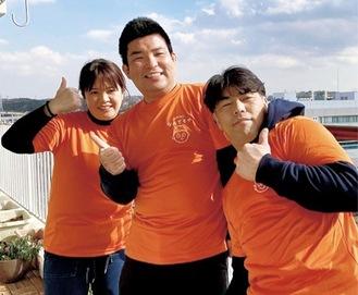 チーム「団地DEなんでもや」左から大内さん、中野さん、瀬戸口さん