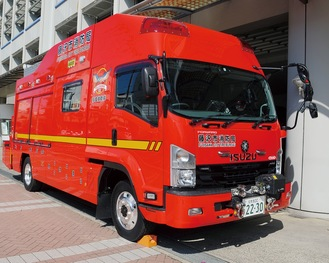 先月に納車された新型の救助工作車