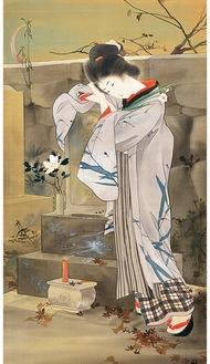 『一葉女史の墓』1902(明治35)年 同館蔵