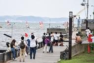 江の島沖 セーリング開幕
