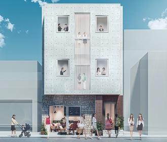 施設イメージ。全11室。1階は入居者間の交流スペースを予定している