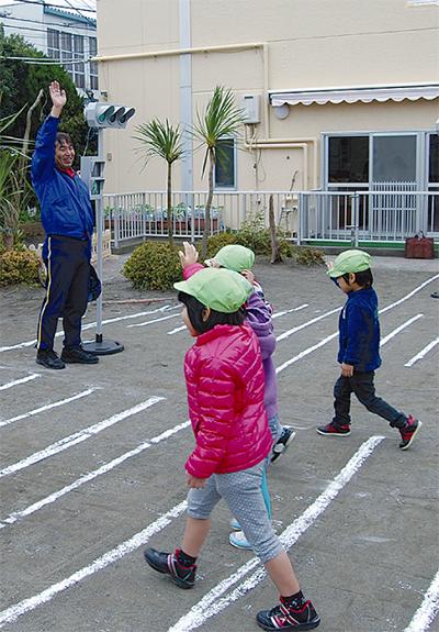 園児の安全守る