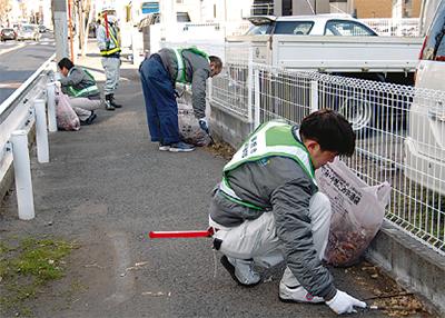 「箱根路」を清掃