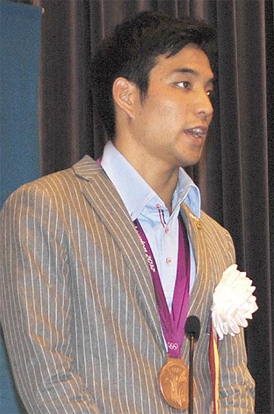 立石諒選手 祝勝会を開催