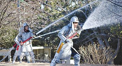 江の島で震災訓練