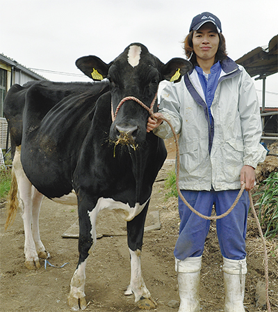 乳牛のミスコンで2位