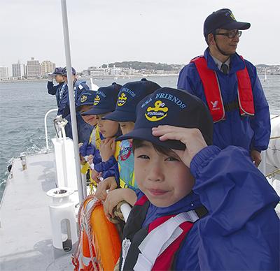 サプライズで巡視艇乗船