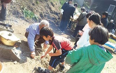 片瀬の自治会が防災訓練