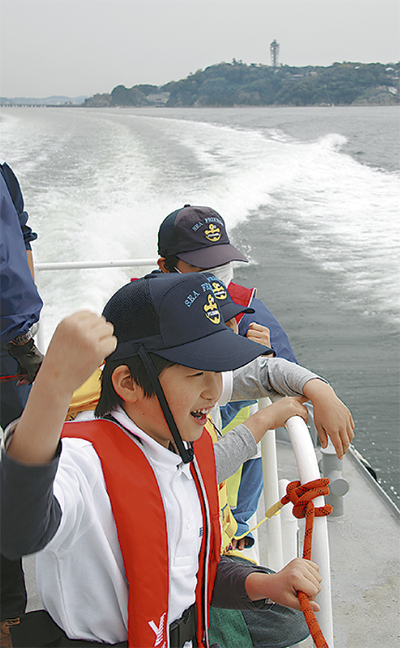 巡視艇「うみかぜ」で海上へ