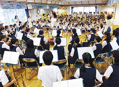 湘南台幼で音楽交流