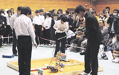長後中で生徒が技術競う
