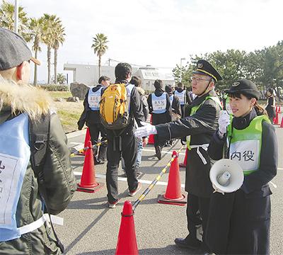 小田急電鉄がバス輸送訓練