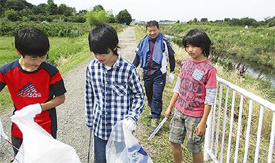 ゴミと不法投棄物300kg超