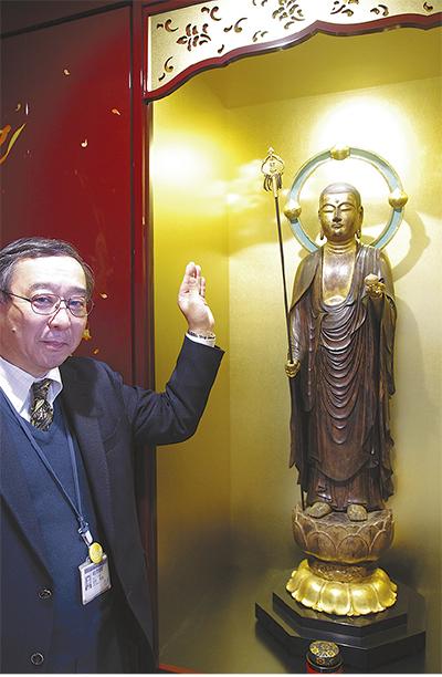 地蔵菩薩像の修復完了