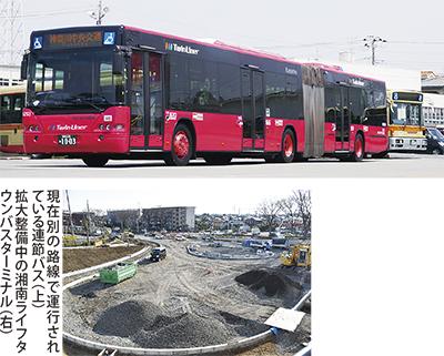 今春から連節バス導入
