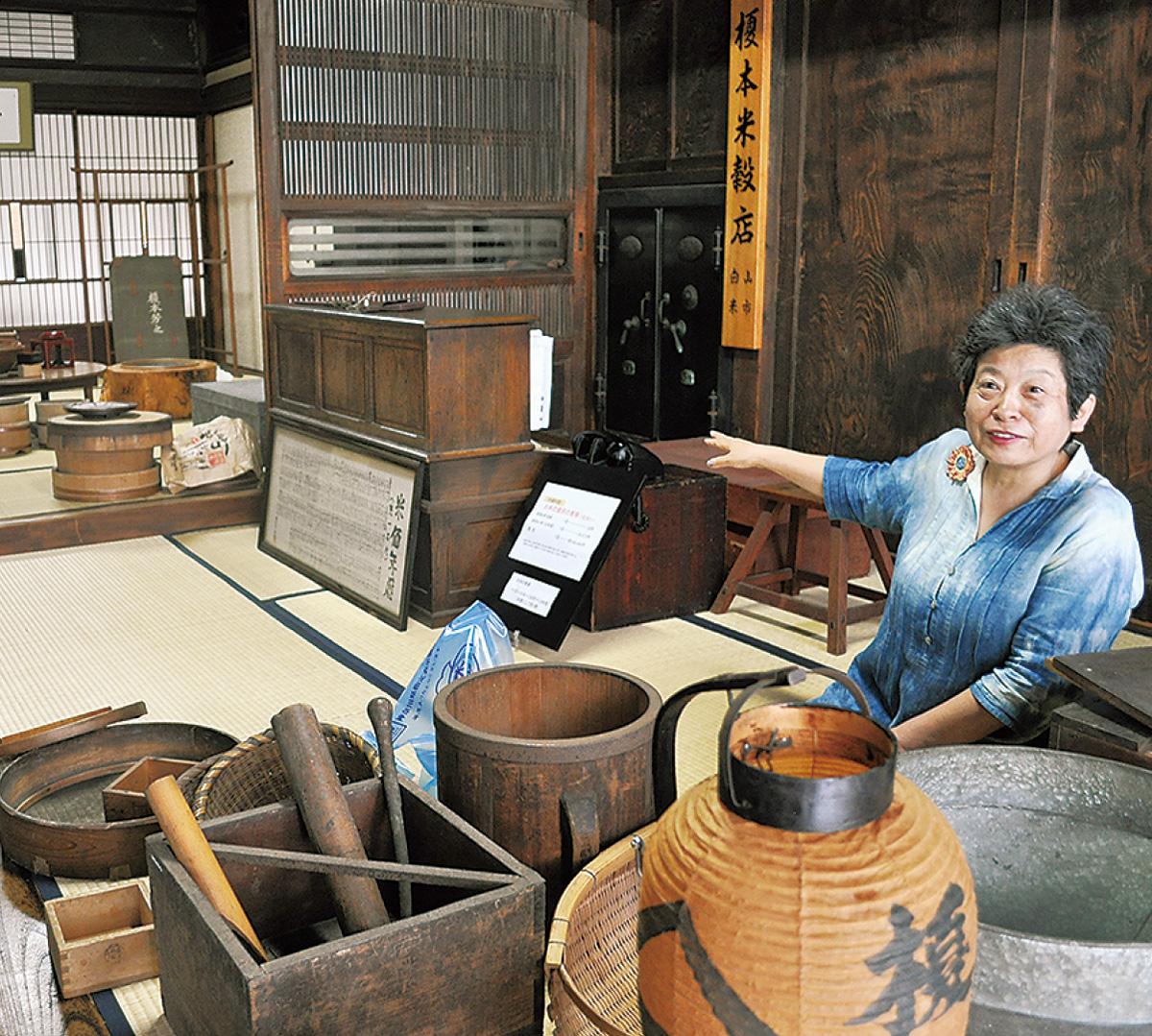 昭和初期の米店再現