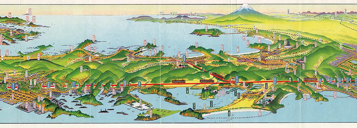 空から見る相模と日本