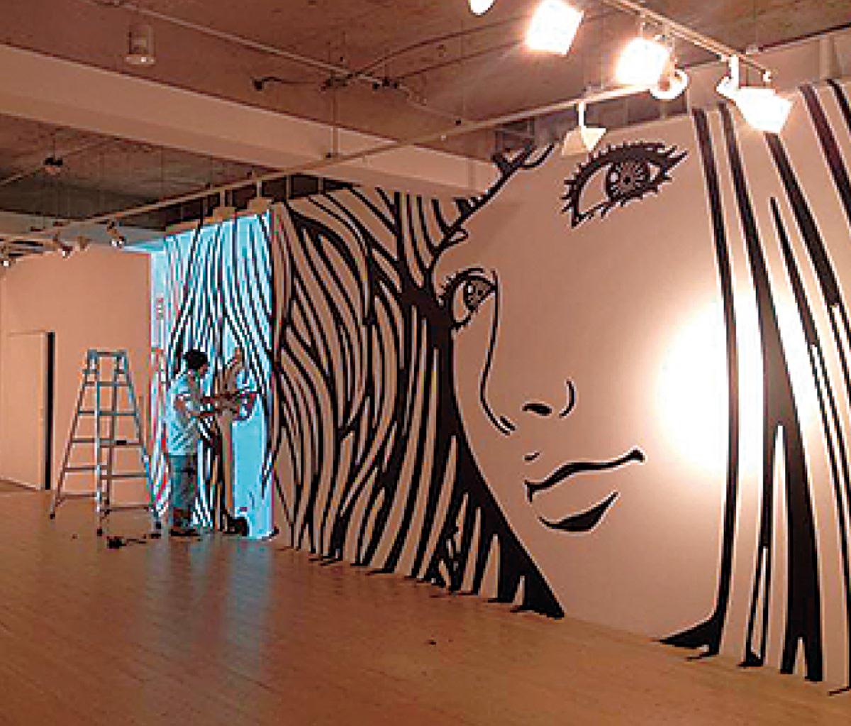 壁画アートに挑戦