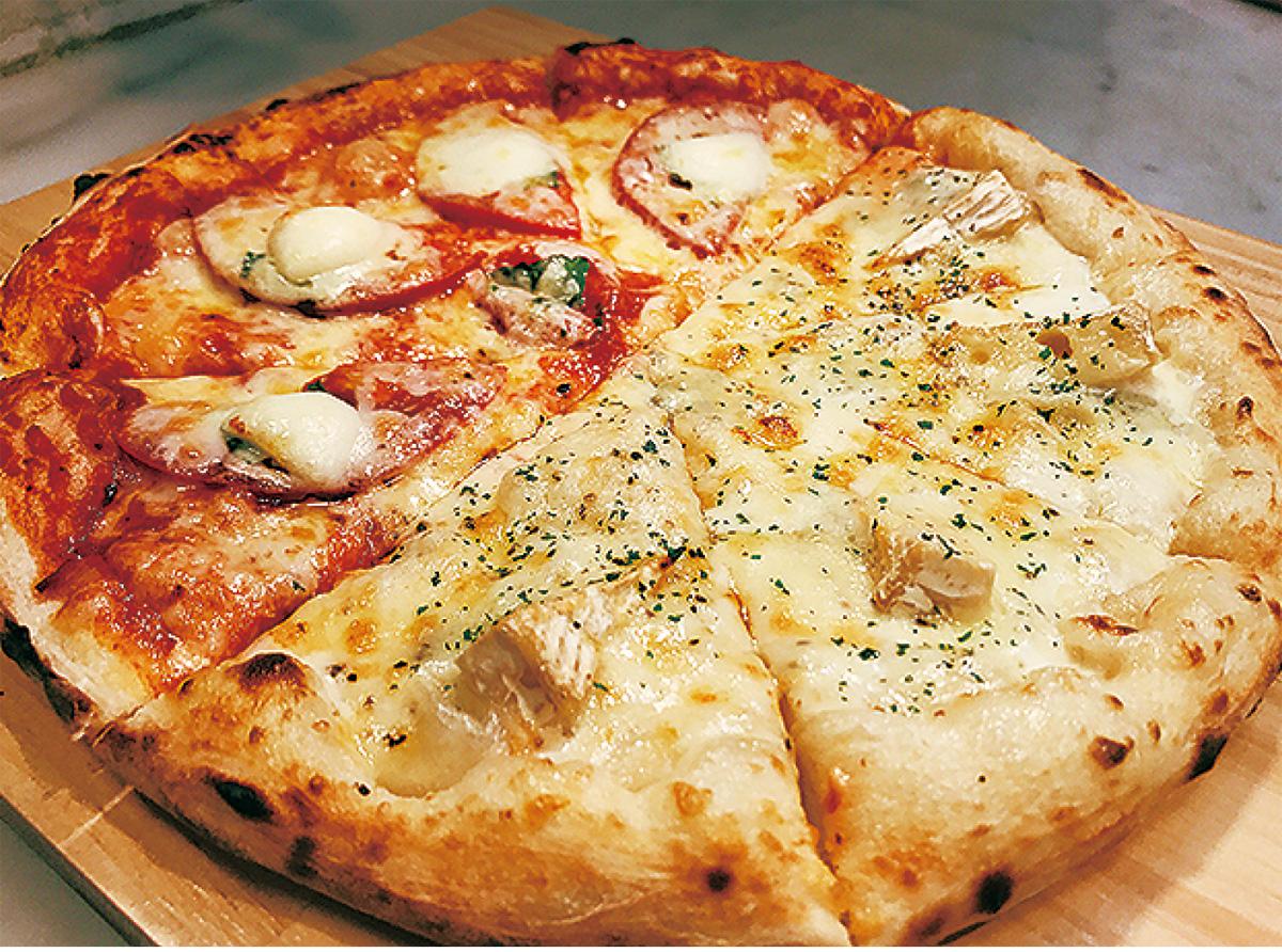 ハーフピザをプレゼント