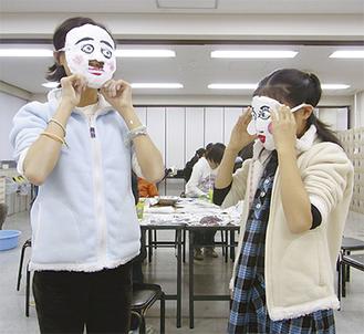 ゴムバンドをつけたら、マスクが完成