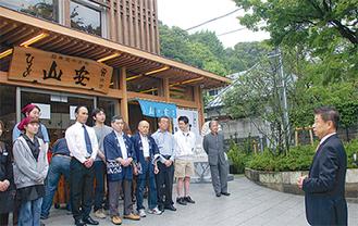 「鎌倉のランドマークに」と山田社長(右)